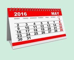 Particularités du mois de mai 2016 : fermetures, événements, ...